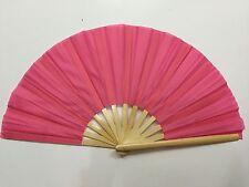 CHINESE MARTIAL ART  PLAIN PINK BAMBOO KUNG FU TAI CHI SCHOOL TRAINING FAN