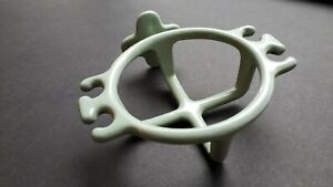 Vintage Wall Mount Cast Iron Green Enamel Cup/Toothbrush Holder