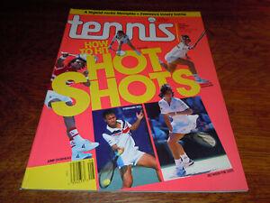 """VINTAGE AUGUST 1990 """" TENNIS """" MAGAZINE - HIT HOT SHOTS COVER - MINT"""
