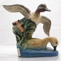 Vintage Jim Beam Decanter 1981 Ducks Unlimited Green Wing Teal MINT!