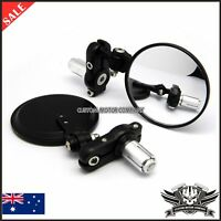 Folding Hindsight Bar End Mirrors Universal for 17MM 14MM Foldable Black Color