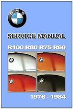 BMW Workshop Manual R100 R80 R75 R60 1976 1977 1978 1979 1980 1981 1982 1983 on