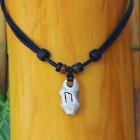 Lederhalskette Uruz Rune Wikingerschmuck Wikingerkette Lederkette Halsband Odin