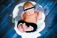 crochet baby gym sweat band shorts and dumb bells boy girl photo props 0-3