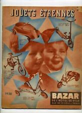 Catalogue Jouets Etrennes BHV 1938 BE