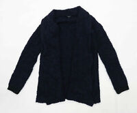 More & More Womens Size 6 Wool Blend Blue Cardigan (Regular)