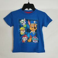 NEW Toddler Boys Size 2T Paw Patrol Short Sleeve Blue Graphic T-Shirt