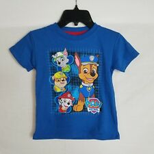 Toddler Boys Size 2T Paw Patrol Short Sleeve Blue Graphic T-Shirt