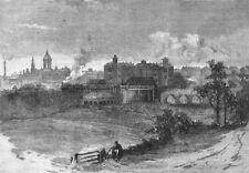 LONDON. Colney Hatch 1888 old antique vintage print picture