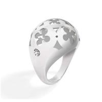 MORELLATO Anello donna a fascia doppio acciaio con diamante naturale bianco DD