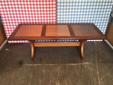 VERY RARE Vintage Retro Mid Century Solid Teak Coffee Table with 3 Copper Panels