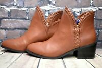 Womens Even & Odd Tan Pull On Mid Heel Ankle Boots Size UK 5 EUR 38 RRP. £29