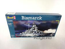NEU Revell Bismarck Modellbau Bausatz 1:1200 Kriegsschiff Schlachtschiff 05802