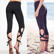 Women High Waist YOGA Fitness Leggings Running Elastic Sports Pants Trousers HOT
