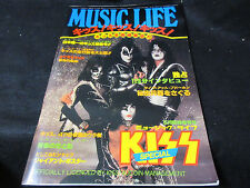 KISS ! KISS ! KISS ! Music Life Special Issue Japan Book with Bind Poster 1978