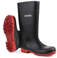 Centek FS338 COMPACTOR Mens Ladies Black Safety Wellington Boot |4-13|