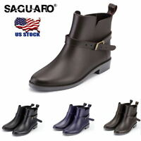 2019 Winter Chelsea Wellies Rain Boots Ankle Boots for Women Waterproof Shoes