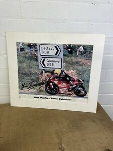 """Vintage Joey Dunlop Road Racing Genuine Signed Authentic Autographed Poster 19"""""""