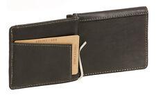 Dollar- & Money Clip Geldscheinklammer Vintage-Style LEAS in Echt-Leder, schwarz