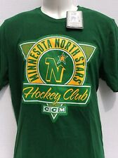 Vtg NHL CCM Minnesota North Stars green T-Shirt sz L large new NWT