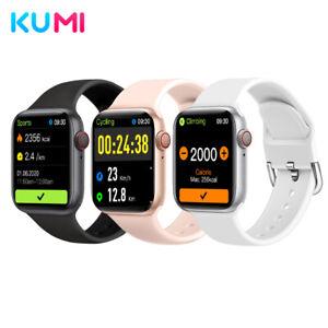 KUMI KU1 Pro Smart Watch Waterproof Bluetooth Call Heart Rate Monitor Andriod US