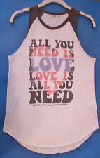 Junk Food Clothing Tee Shirt Small The Beatles All You Need is Love Lyrics