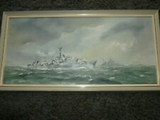 More details for h.m.s opportune oil on board painting royal navy