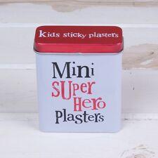 Mini Super Héroe yesos Tin contenedor de almacenamiento de esparadrapo Kids Divertido Nuevo