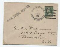 1911 Garden City Estates NY pioneer airmail flight cover [y6032]