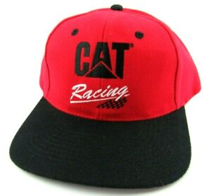 Vintage CAT Racing Strapback Hat Cap Caterpillar