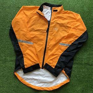 Showers Pass Women's Full-Zip Waterproof Cycling Reflective Jacket Medium Orange