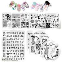 NICOLE DIARY Flower Nature Nail Art Stamping Plates Image Stamp Print Template