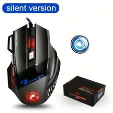 Ergonomic Wired Gaming Silent Mouse 7 Button LED 5500 DPI USB Game Mouse For PC
