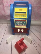 Vintage Fisher Price Post Office Mail 2020 1989 Original Rare 80's Toy!