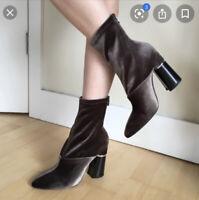 "Phillip Lim Olive Velvet Boots ""New York Sexy"" Last Drop!"