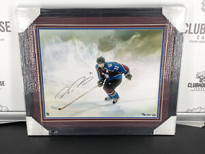 """Peter Forsberg Signed Framed 16X20 Photo """"Watcher"""" Colorado Avalanche #/50"""