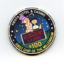 $100.00 Fiesta Casino. Las Vegas , Nevada.  First Chip of The Millennium.