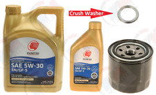 6QTS. IDEMITSU 5w-30 SYNTHETIC Oil + Oil Filter + CRUSH Washer for MITSUBISHI