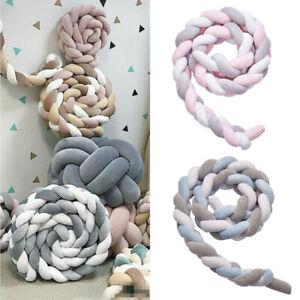2-4M Länge Baby Nestchen Kopfschutz Knotenkissen Bettschlange Farbe Babynestchen