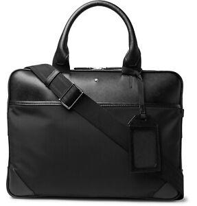 MONTBLANC Sartorial Jet Saffiano Leather SLIM BUSINESS FOLIO Briefcase Bag