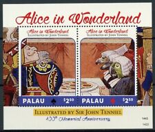 Palau Stamps 2014 MNH Alice in Wonderland Sir John Tenniel 100th Mem 2v S/S II