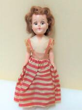 """Vintage 40's-50's 7"""" Hard Plastic Doll with all Original Clothing"""