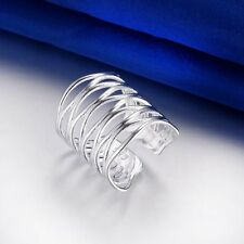 Adjustable New - Male Female 925 Silver Ring Jewelry fashion Meshed Ring XMPJ230