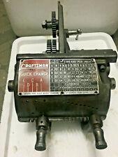 Atlas Craftsman 12 Metal Lathe Quick Change Gear Box Assembly