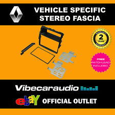 Renault Trafic 2011 - 2014 Double Din Stereo Fascia Adaptor Black CT23RT06