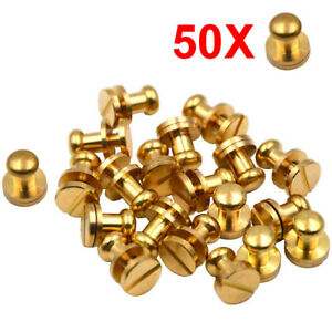 Solid Brass Leathercraft Buckle Button Feet Nailheads Stud Spike Purse Handbag