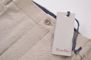 Zanella NWT Casual Pants / Chinos Size 38 In Light Tan Seersucker Cotton Noah