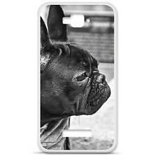 Coque housse étui tpu gel motif bulldog Alcatel One Touch Pop C7