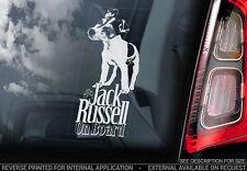 Jack Russell Terrier - Car Window Sticker - Dog Sign -V04