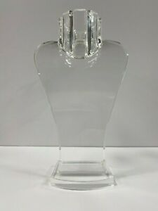 """12"""" Height Clear Acrylic  Bust for Jewelry  /  Neck form Display"""